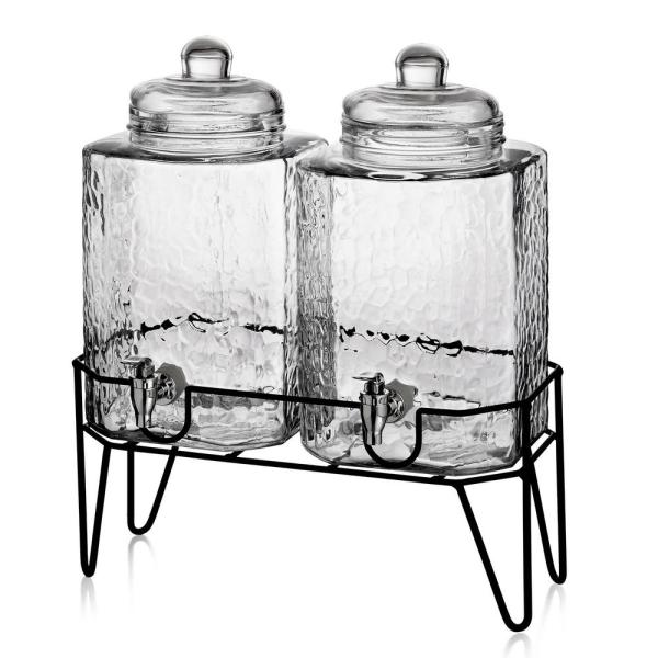 Hamburg Dispensers with Stand (Set of 2)