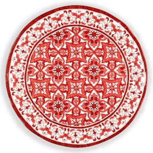 Q Squared Talavera 16 inch Melamine Serving Platter in Red by Q Squared