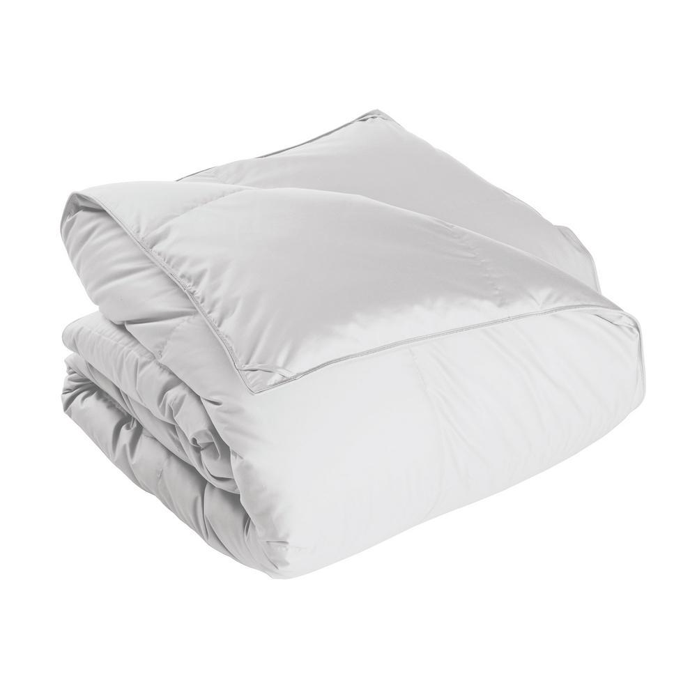 Alberta Medium Warmth White Full Euro Down Comforter