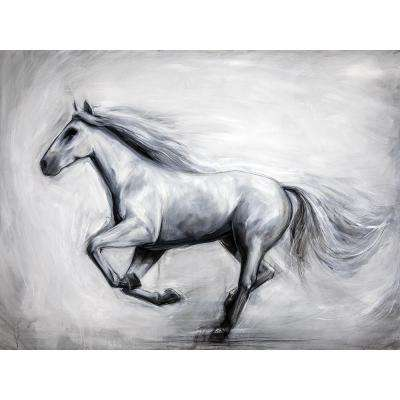 "36 in. x 48 in. ""Through the Wind"" by Milo Printed and Painted Canvas Wall Art"