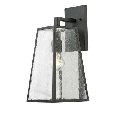 1-Light Imperial Black Outdoor Wall Lantern
