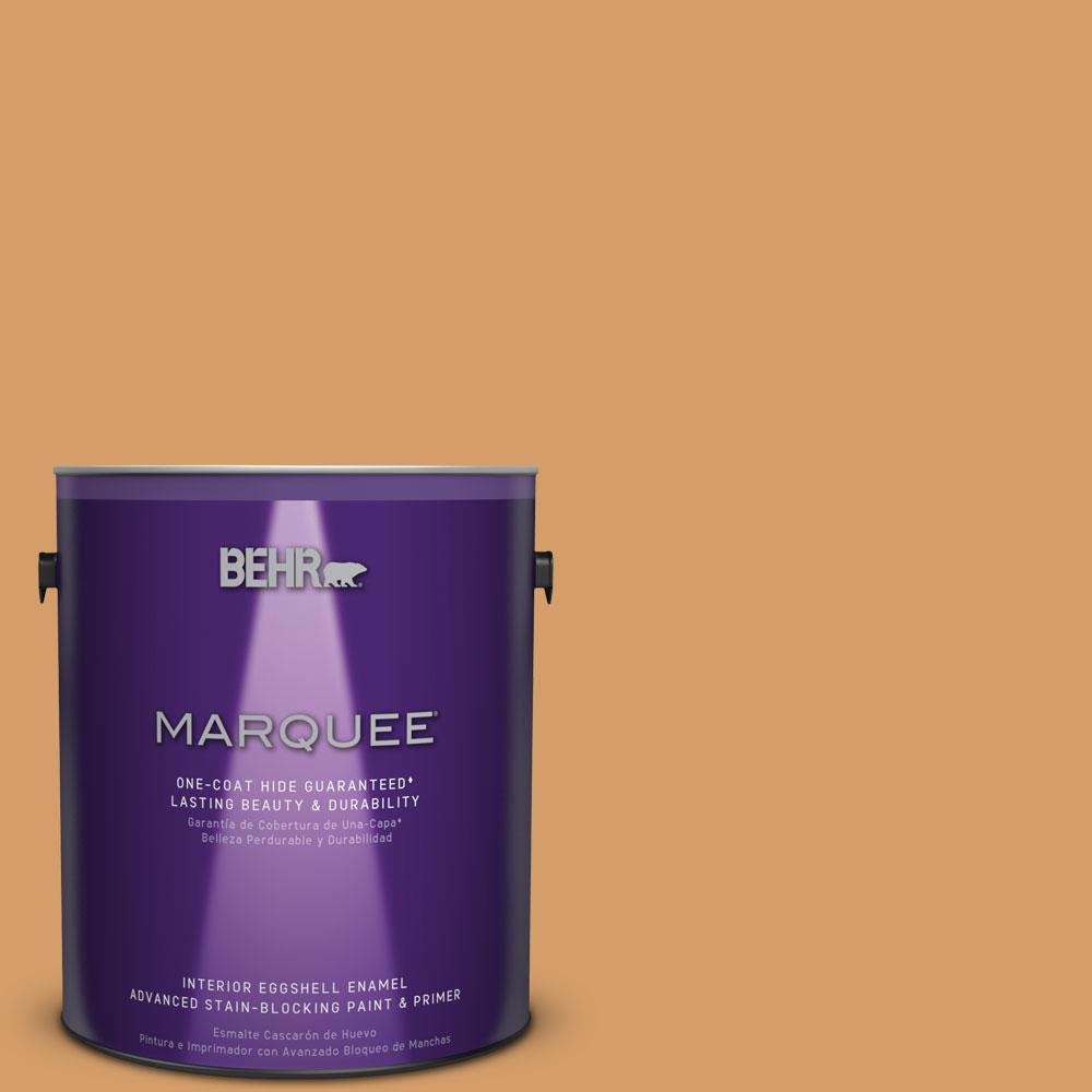1 gal. #MQ4-8 Golden Aura One-Coat Hide Eggshell Enamel Interior Paint
