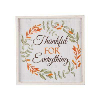 14. in. Wooden Thanksgiving Word Sign