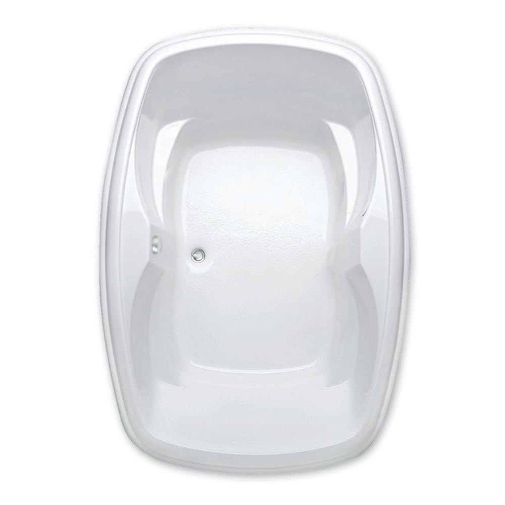 Azra I 5 ft. Acrylic Center Drain Oval Drop-in Soaking Bathub