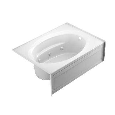 Jacuzzi Projecta 60 In X 42 In Acrylic Right Hand Drain Rectangular Alcove Whirlpool Bathtub In White R4s6042wrl1xxw The Home Depot