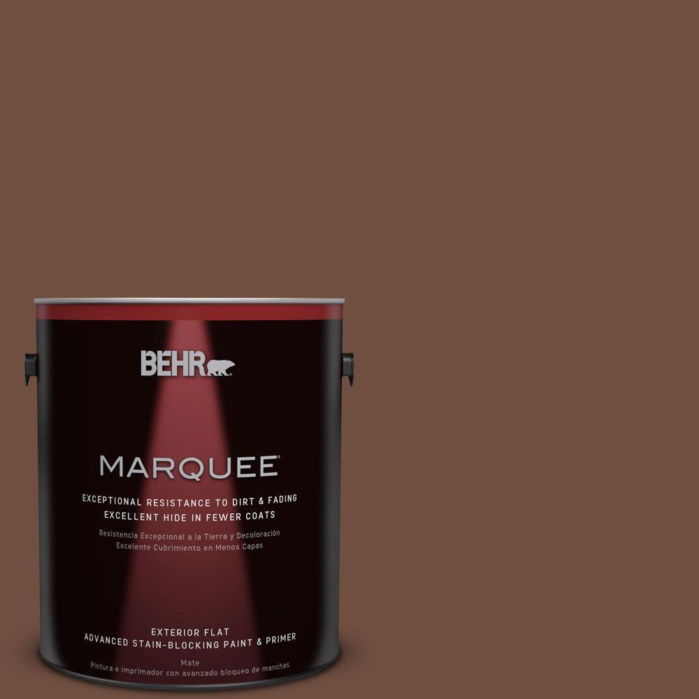 1 gal. #HDC-FL15-04 Cinnamon Crumble Flat Exterior Paint