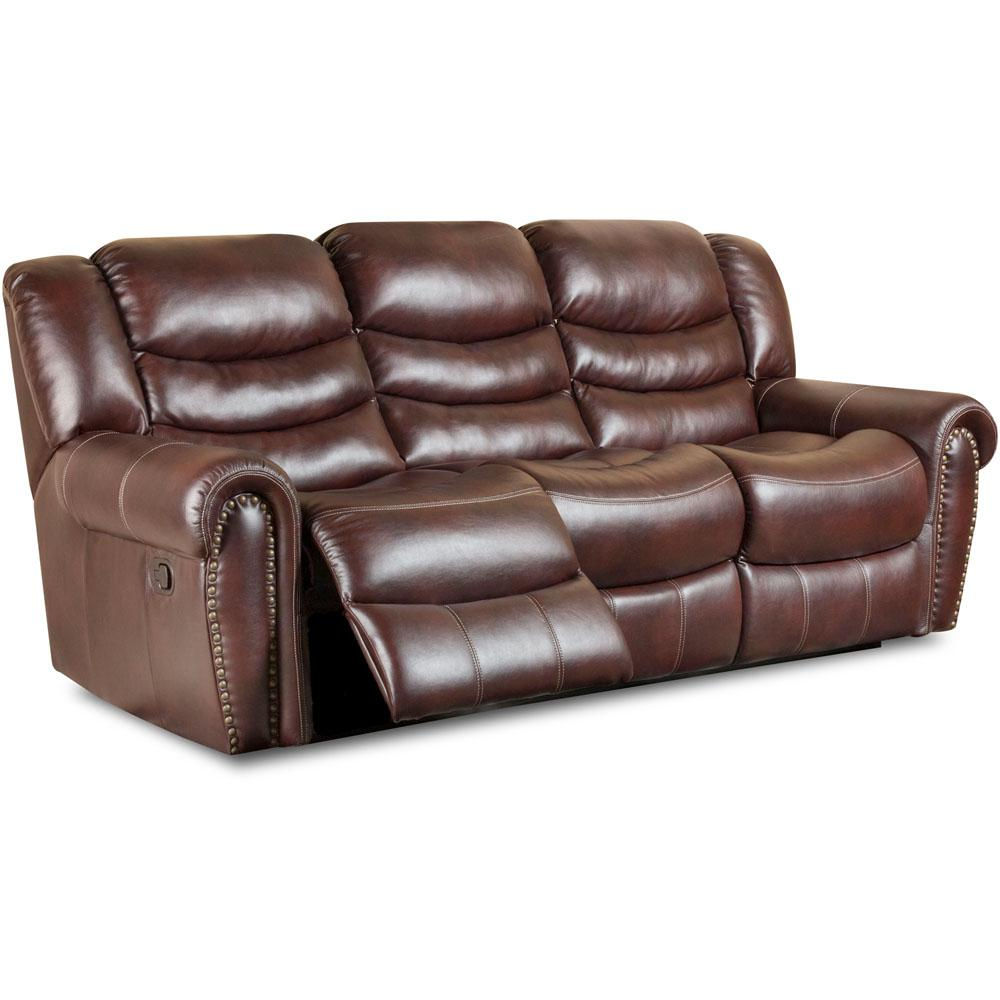 Cambridge Lancaster Burgundy Double Reclining Sofa