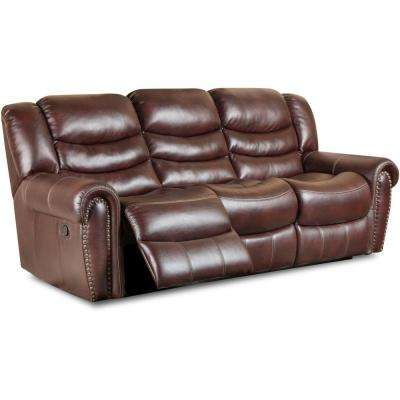 Lancaster Burgundy Double Reclining Sofa