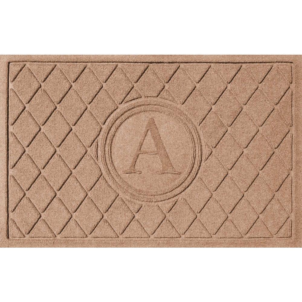 Argyle Medium Brown 24 in. x 36 in. Monogram A Door