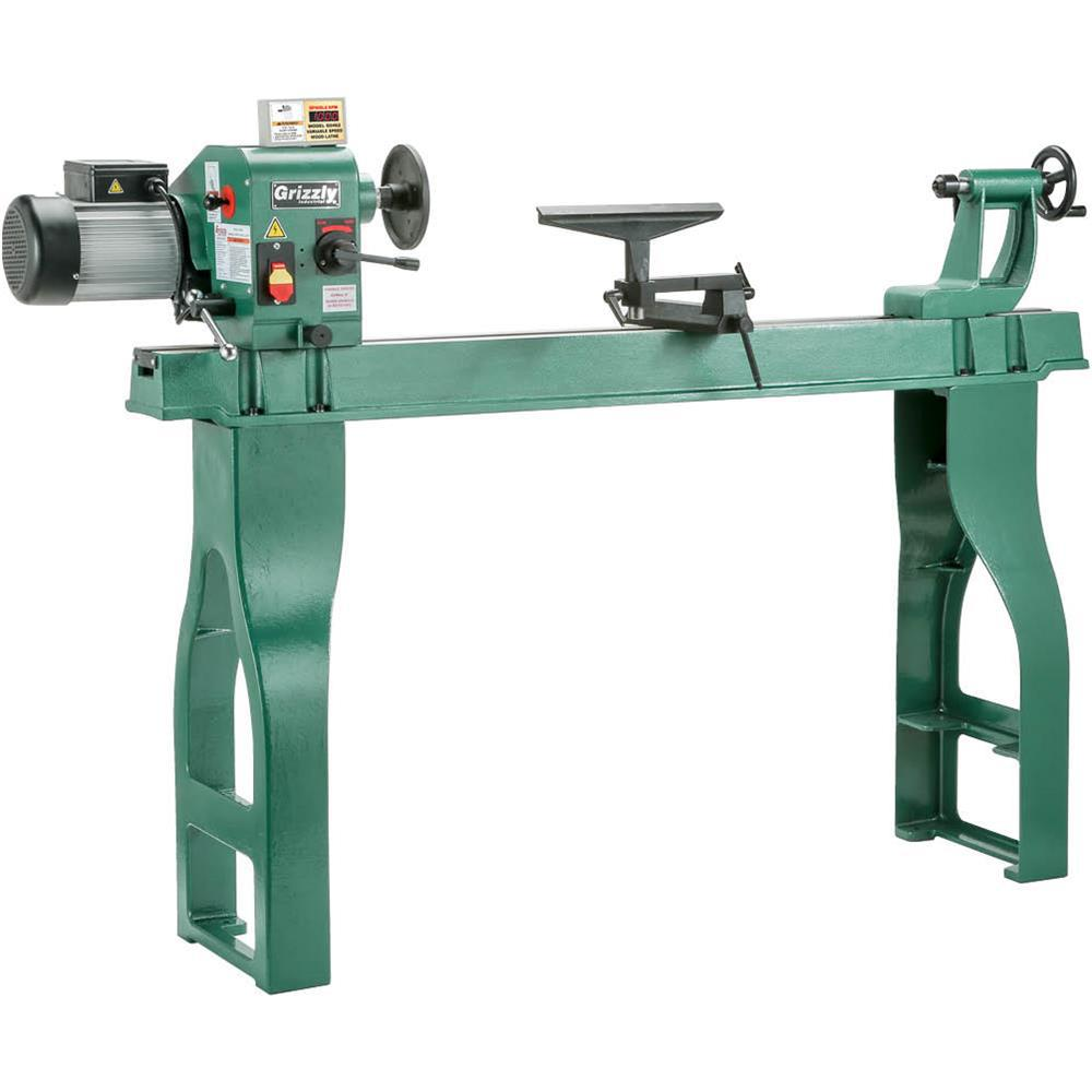 Grizzly Industrial 16 In. X 46 In. Wood Lathe With DRO