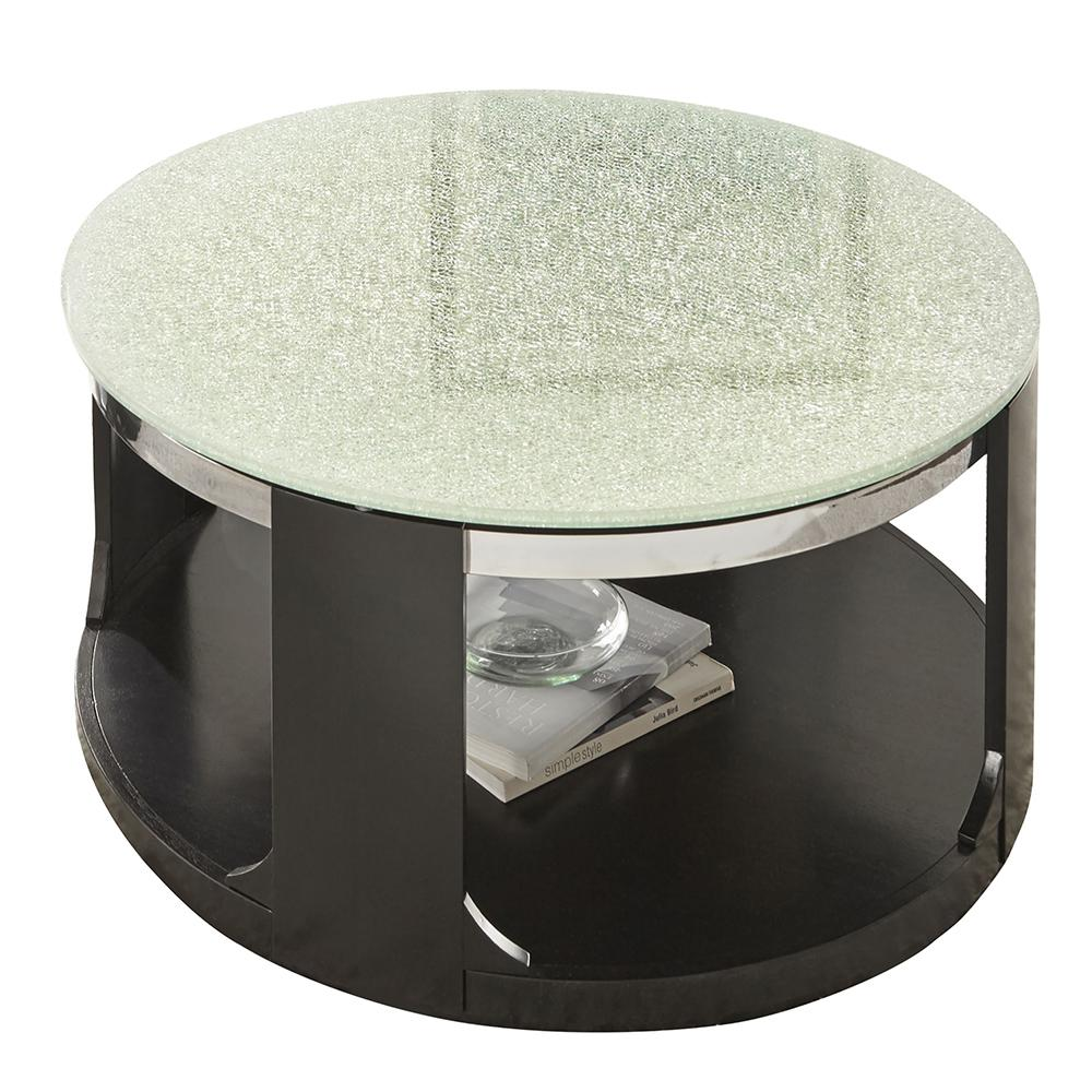 Croften Merlet Cracked Glass Cocktail Table with casters