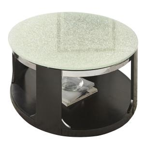 Click here to buy  Croften Merlet Cracked Glass Cocktail Table with casters.