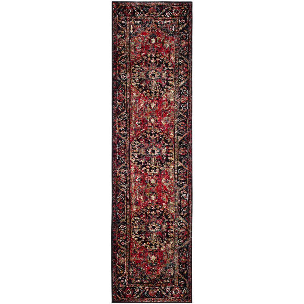 Safavieh Vintage Hamadan Red/Multi 2 ft. 2 in. x 18 ft. Runner