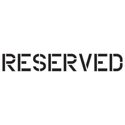 12 in. Reserved Stencil