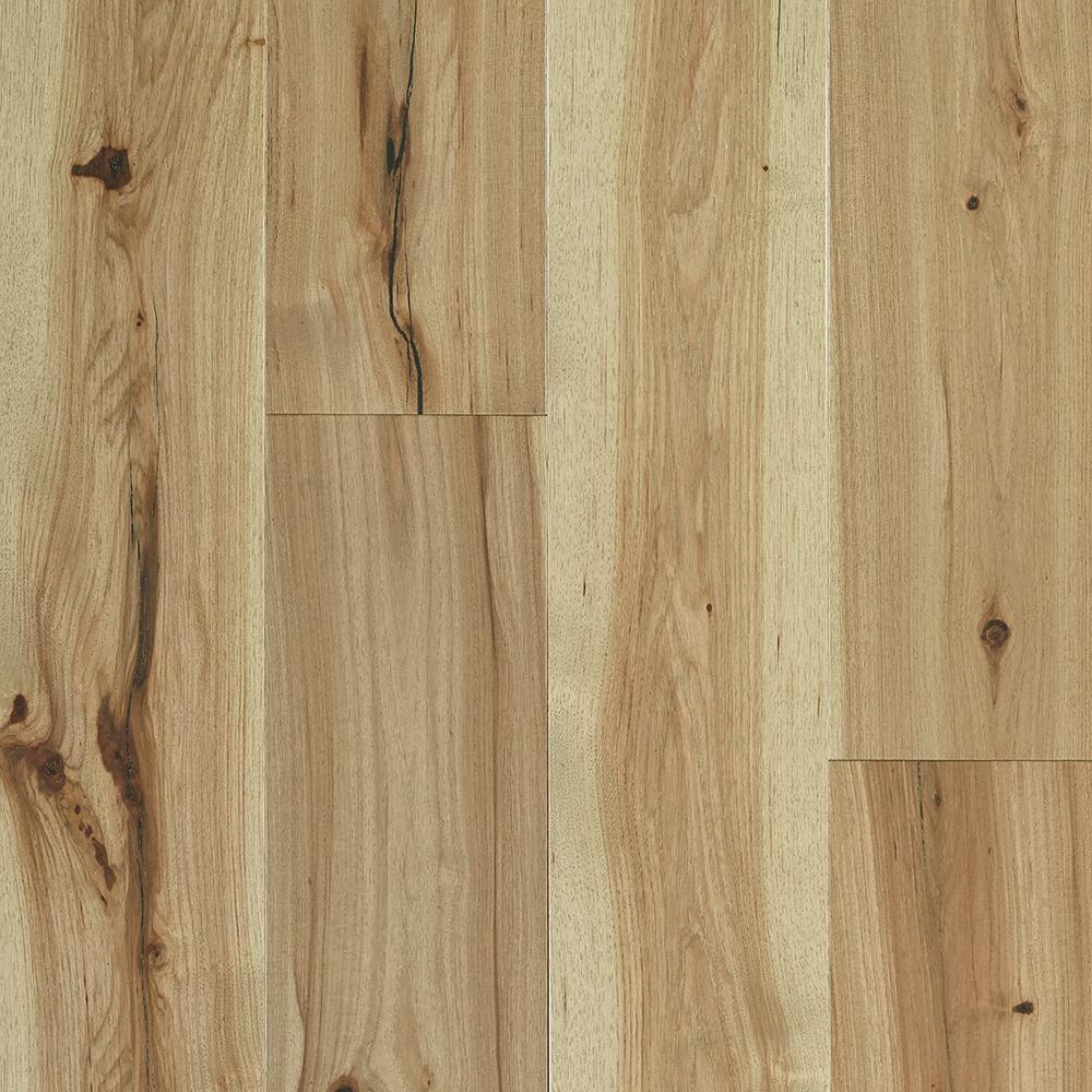 SHAW Repel Water Resistant Hickory Natural 1/2 in. T x 7 in. W x Random Length Click Hardwood Flooring (22.22 sq. ft./case), Light