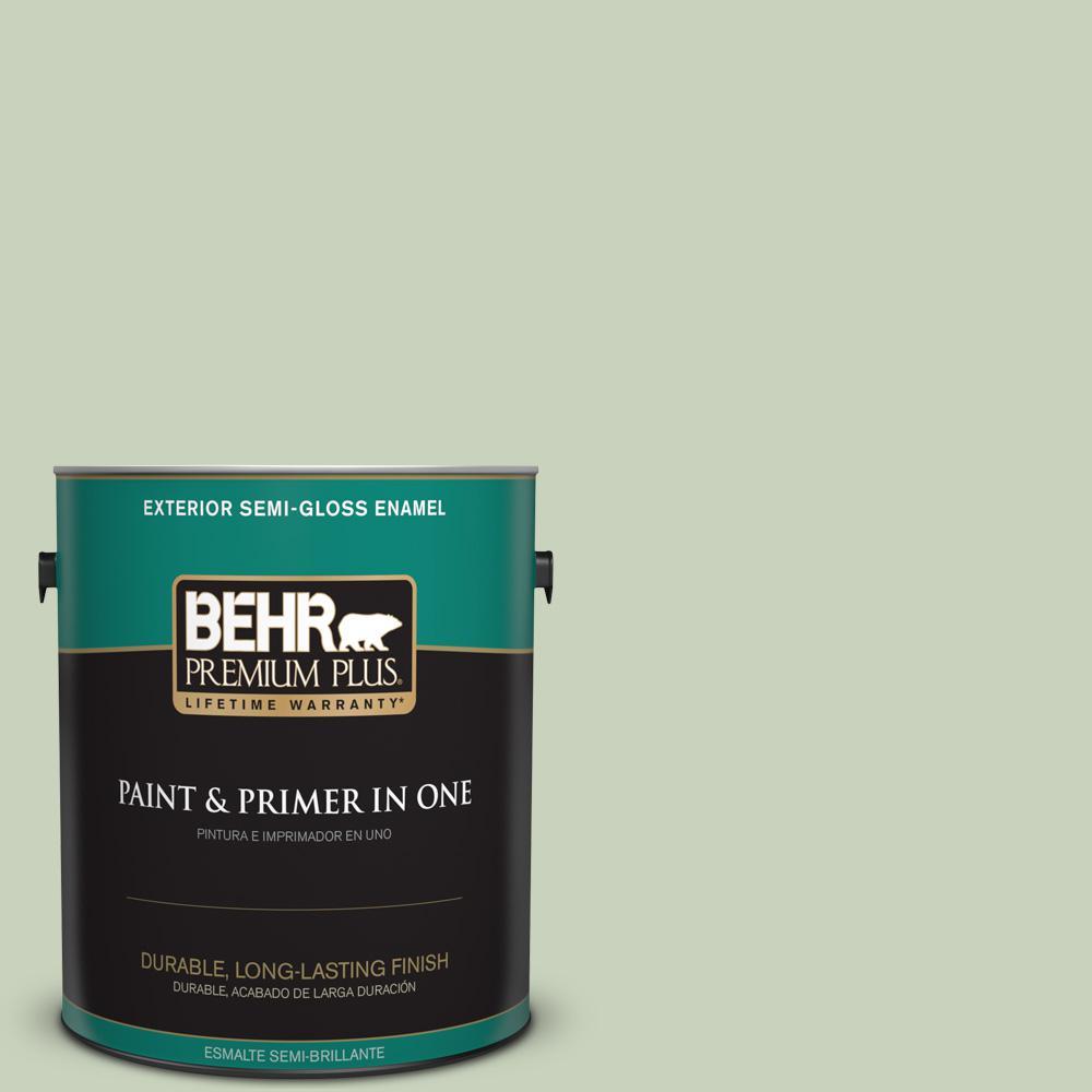 1 gal. #PPU10-09 Chinese Jade Semi-Gloss Enamel Exterior Paint