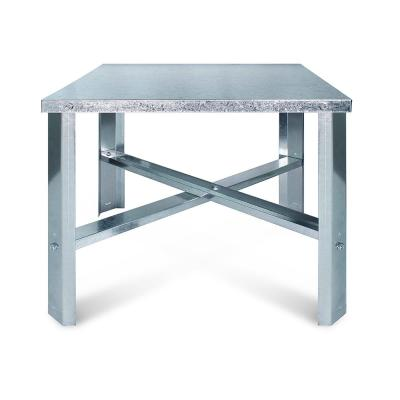 24 in. Square Water Heater Stand in Galvanized Steel