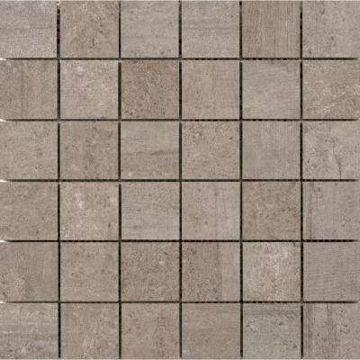 Formwork Union 11.77 in. x 11.81 in. x 10mm Porcelain Mesh-Mounted Mosaic Tile