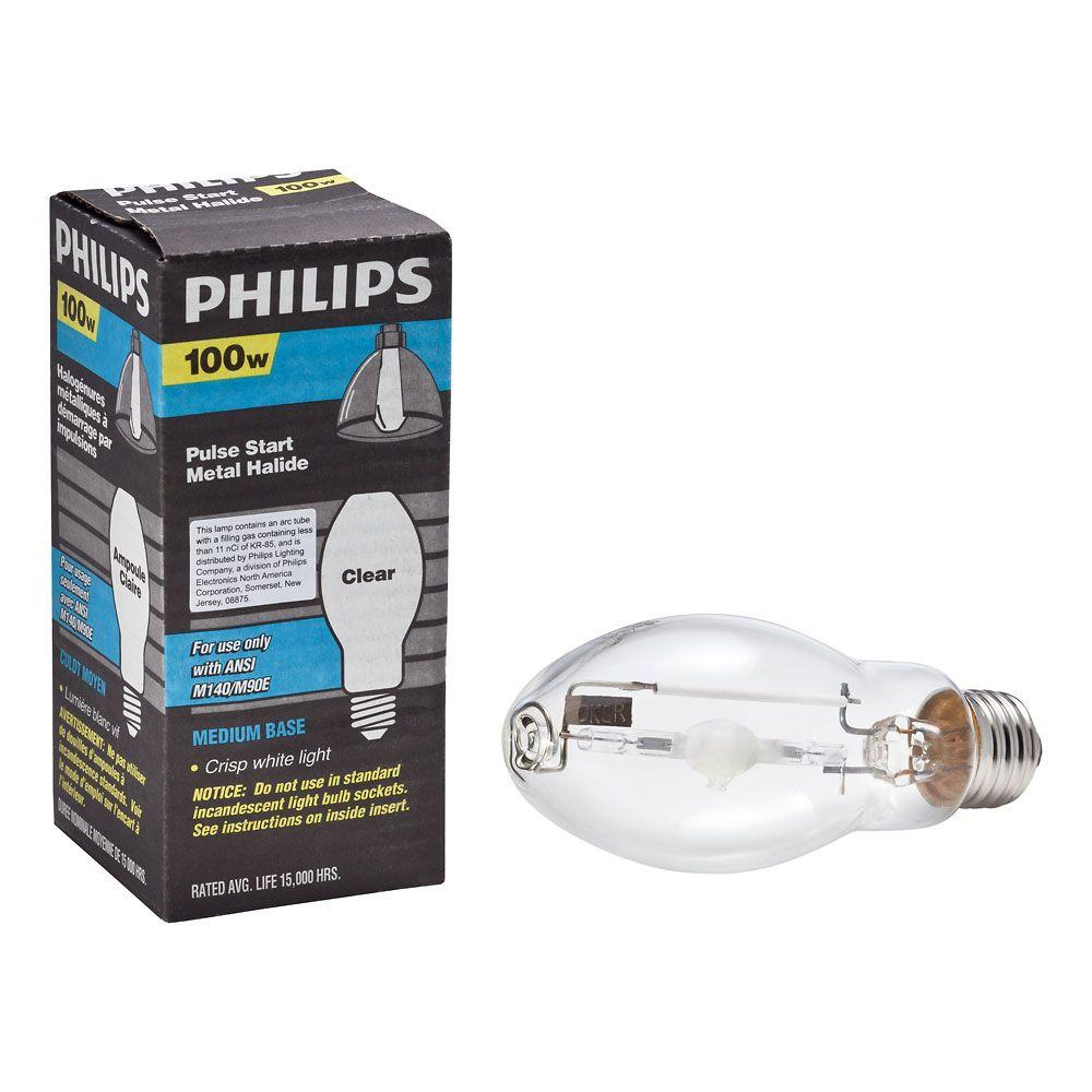 Metal Halide Lights Home Depot: Philips 100-Watt BD17 Metal Halide HID Light Bulb-406033