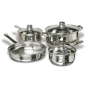 7-Piece Stainless Steel Cookware Set Includes Pots and Pans
