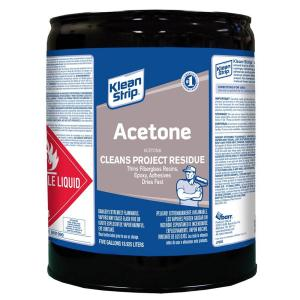 Klean Strip 5 Gal Acetone Solvent Cac18 The Home Depot
