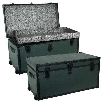 31 in. Olive Green Garrison Oversize Trunk