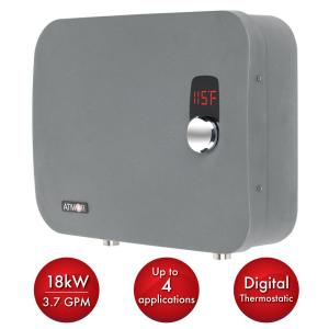 Atmor Thermopro 18 Kw 240 Volt 3 7 Gpm Stainless Steel Electric Tankless Water Heater With Self Modulating Technology At 910 18tp The Home Depot