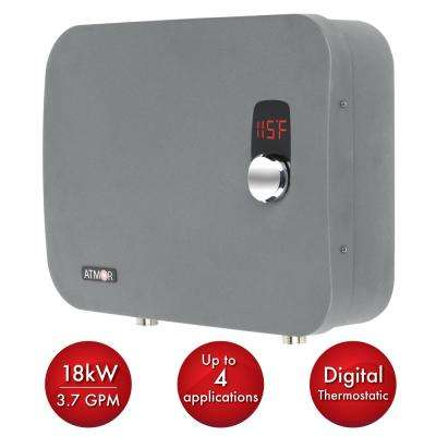 ThermoPro 18 kW / 240-Volt 3.7 GPM Stainless Steel Electric Tankless Water Heater with Self-Modulating Technology