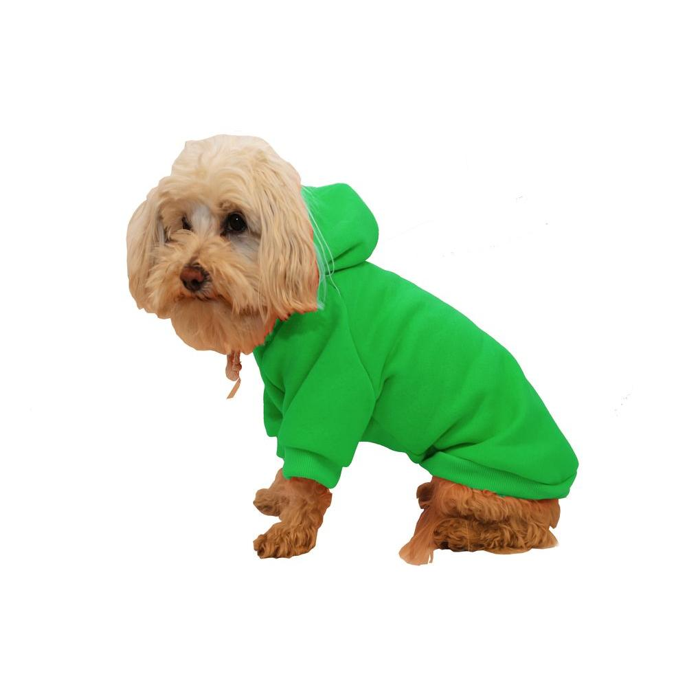 PET LIFE Small Mint Green Fashion Ultra-Soft Cotton Pet Dog Hoodie Hooded Sweater