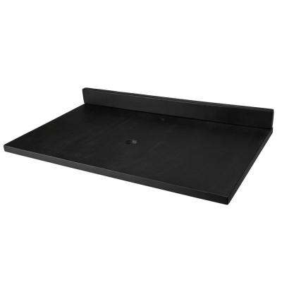 37 in. x 22 in. Concrete Vanity Top with Backsplash in Charcoal