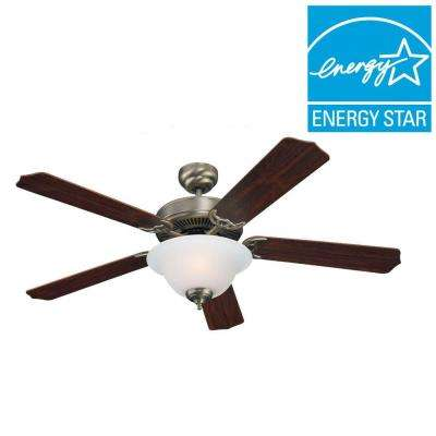 Quality Max Plus 52 in. Antique Brushed Nickel Indoor Ceiling Fan