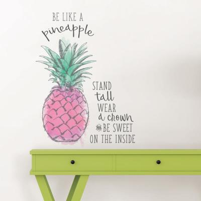 Pink Be Like a Pineapple Wall Quote