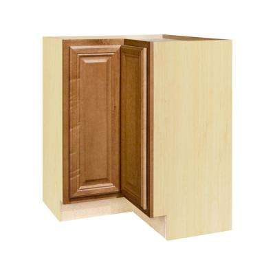 Hampton Bay Cambria Assembled 28.5x34.5x16.5 inch Lazy Susan Corner Base Kitchen Cabinet in Harvest by Hampton Bay