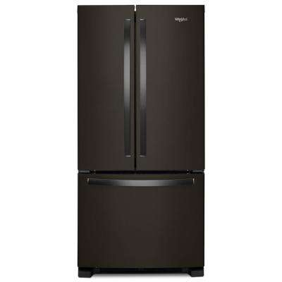 33 in. W 22 cu. ft. French Door Refrigerator in Fingerprint Resistant Black Stainless