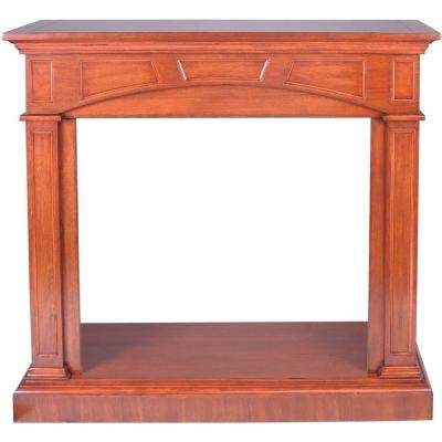 46.81 in. Vent-Free Mantel Fireplace in Heritage Cherry