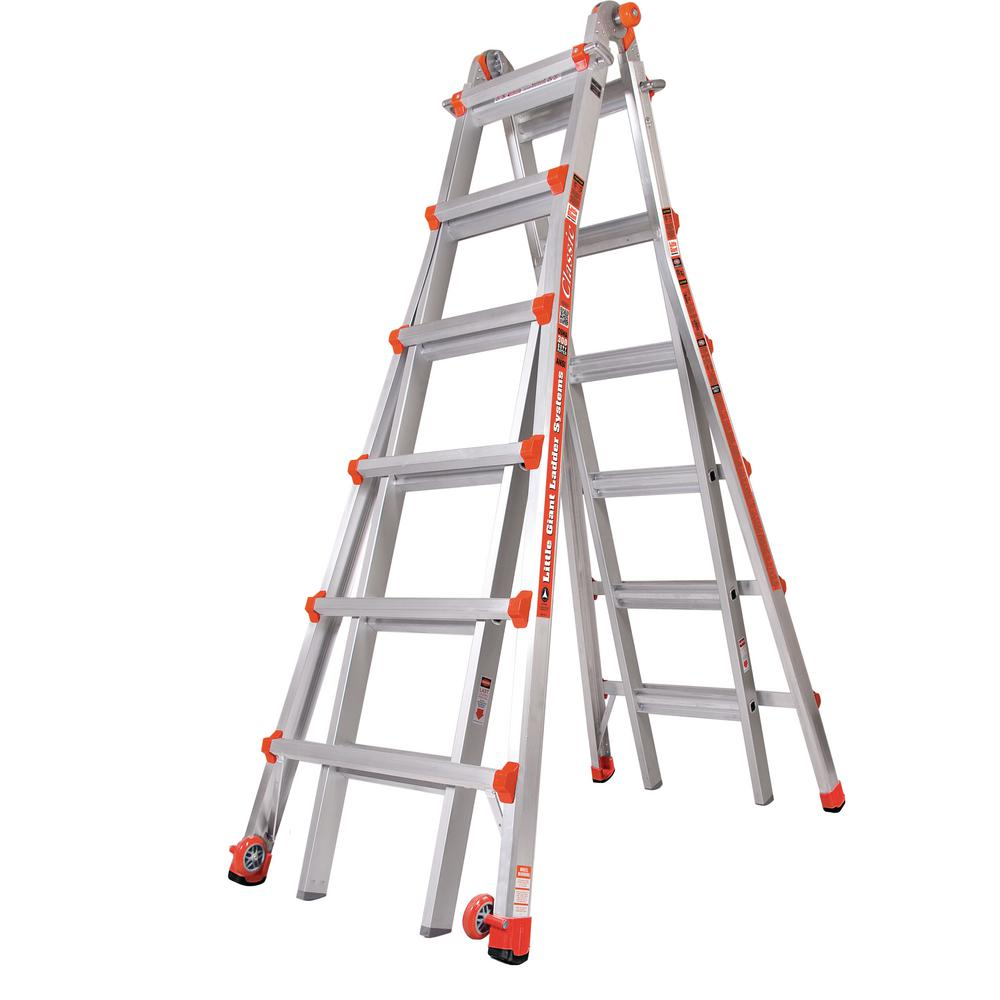 Little Giant Ladder Systems M26 Classic 26 ft. Aluminum Multi-Position Ladder with 300 lb. Load Capacity Type IA Duty Rating