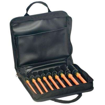 9-Piece Insulated Nut Driver Set with Case- Cushion Grip Handles