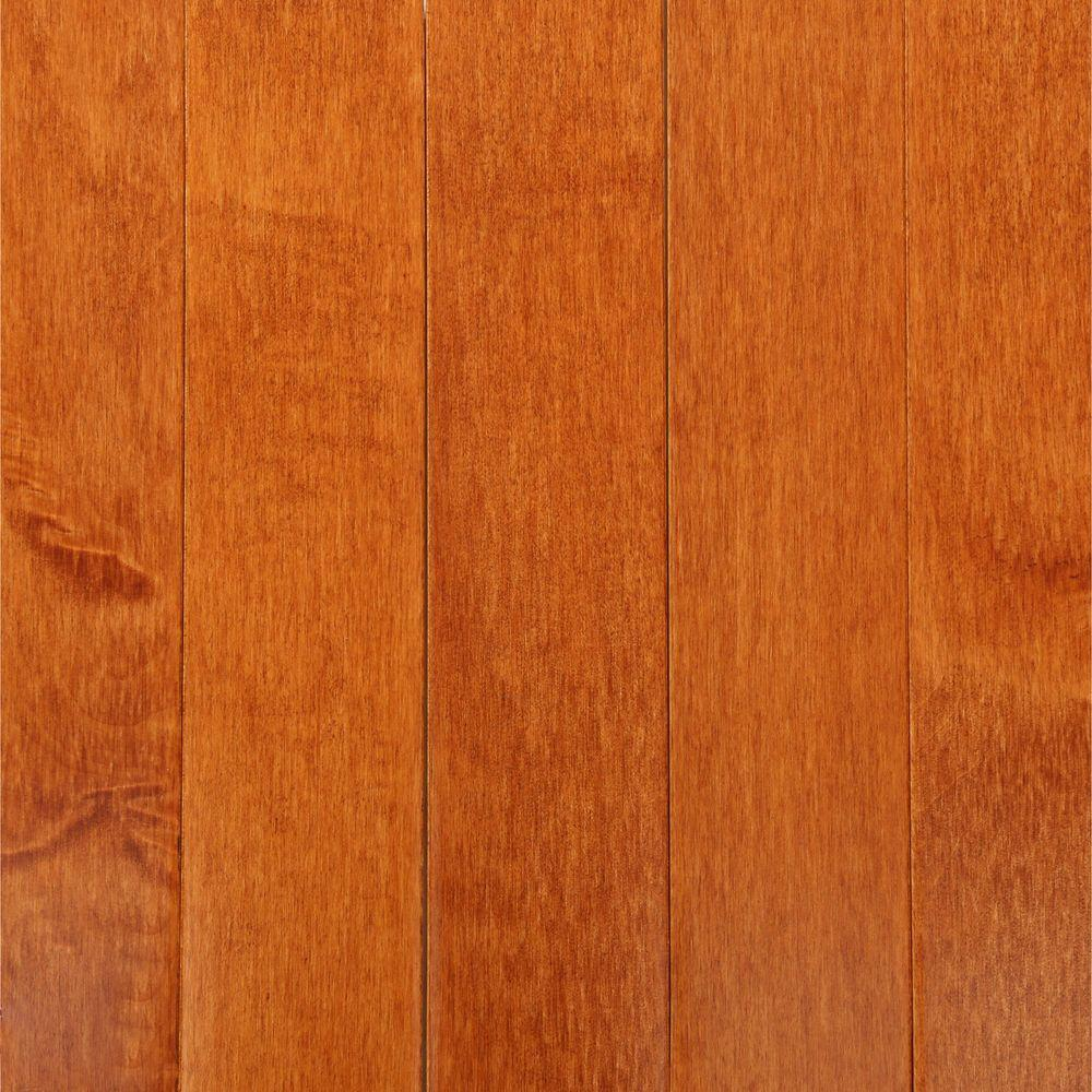 Bruce cinnamon maple 3 4 in thick x 2 1 4 in wide x for Solid hardwood flooring