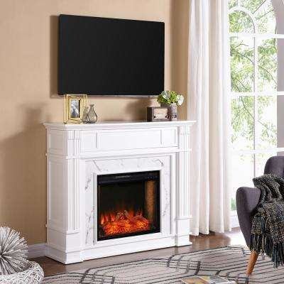 Treshelle Alexa-Enabled 48 in. Electric Smart Fireplace in White