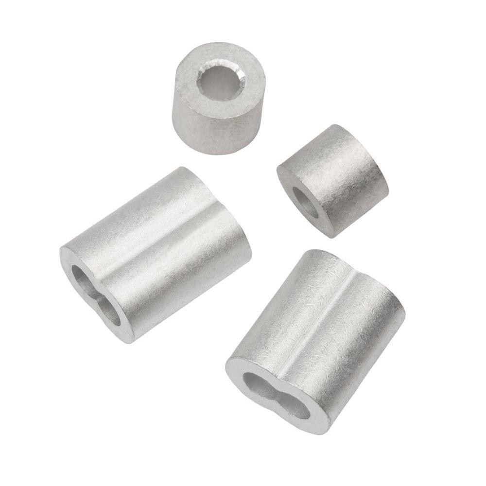 Everbilt 1/8 in. Aluminum Ferrule and Stop Set-43254 - The Home Depot