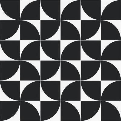 Tori Crescent Black 8 in. x 8 in. Matte Porcelain Floor and Wall Tile (9 Pieces/3.87 sq. ft./Case)