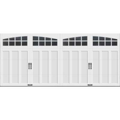 Coachman Collection 16 ft. x 7 ft. 18.4 R-Value Intellicore Insulated White Garage Door with Arch Window