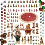 Home for The Holidays Christmas Gingerbread Ornament and Decor Set (152-Piece)