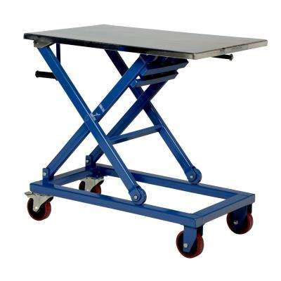 660 lb. 37 in. x 23.5 in. Mechanical Scissor Cart