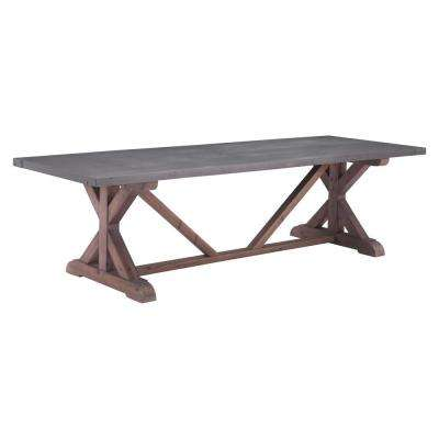 Durham Gray and Distressed Fir Dining Table