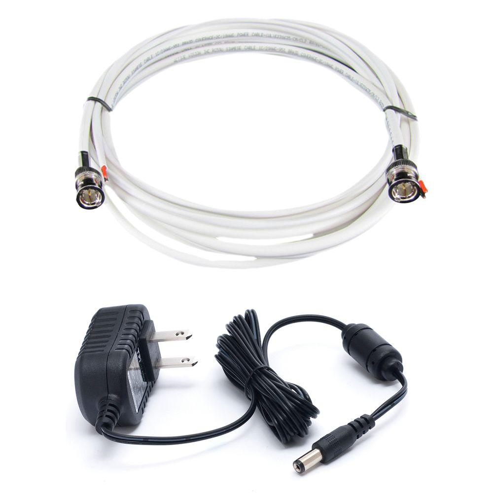 Revo 500 ft. BNC Cable and Power Supply Bundle for Use with REVO 12 Volt Elite Cameras-DISCONTINUED
