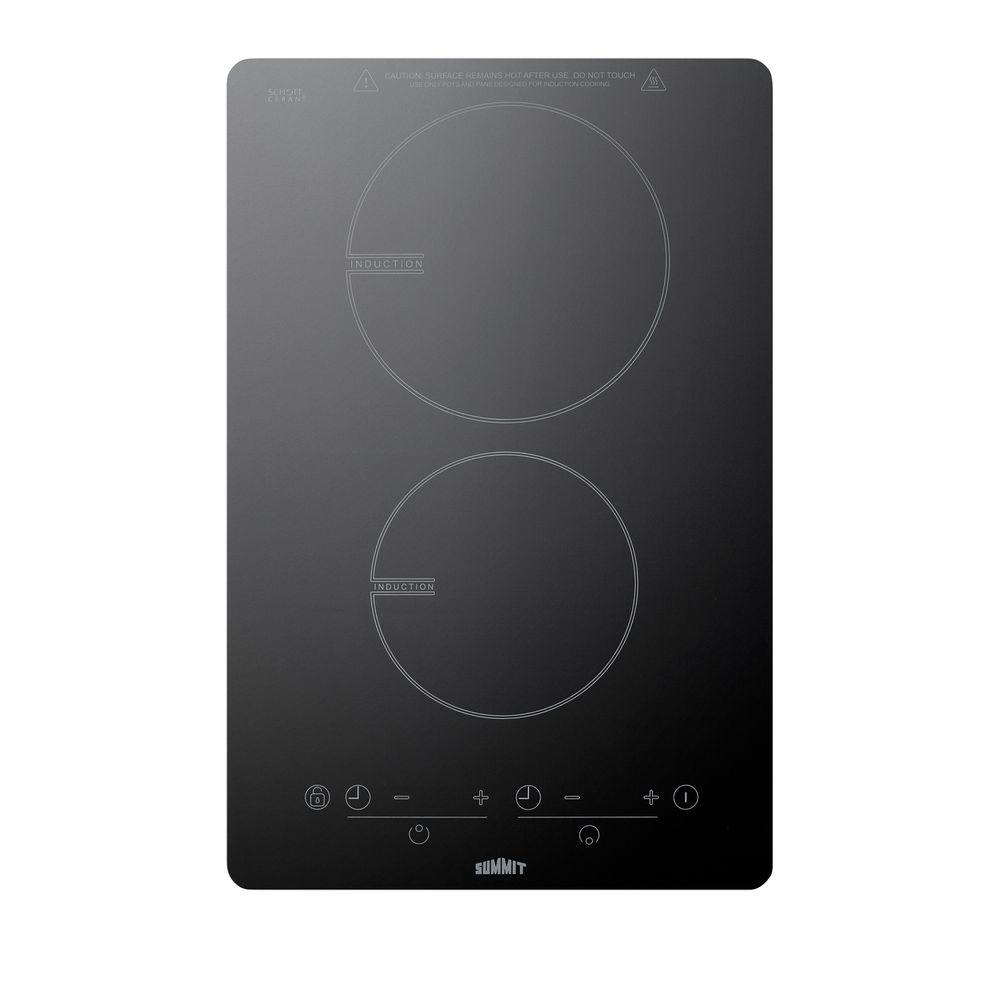 W Induction Cooktop In Black With 2 Elements