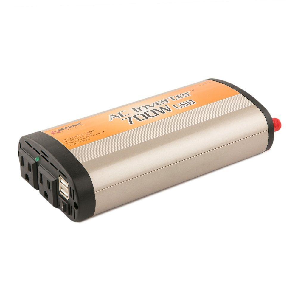 wagan tech slim line 700-watt/1,800-watt inverter with usb-2016-6