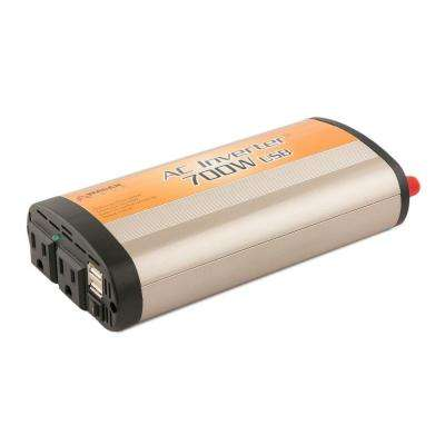 Slim Line 700-Watt/1,800-Watt Inverter with USB