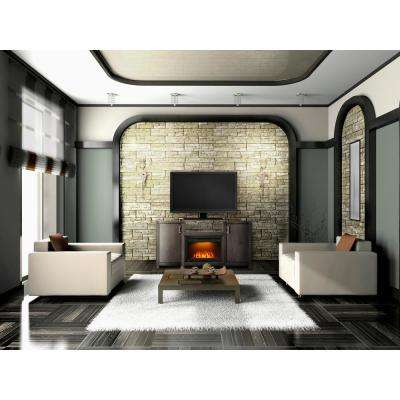 Whitney 24 in. Mantel Package Electric Fireplace in Deep Grey